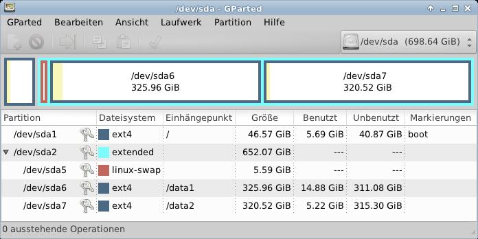 OSOP Server Partitions