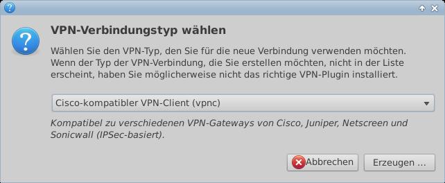 VPN-Verbindungstyp