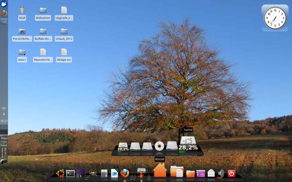 Xubuntu Oberfläche